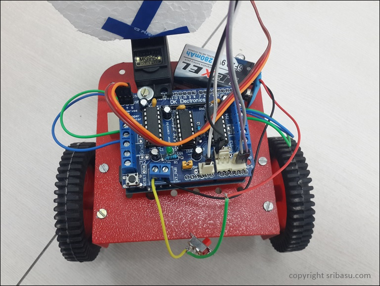 Arduino - Obstacle Avoiding Robot 4WD - Instructablescom